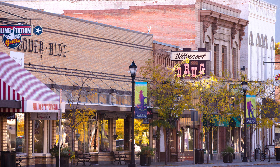 hamilton montana main street downtown