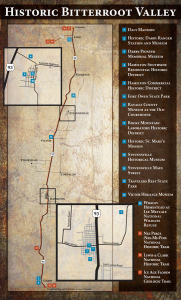 map of historical sites in the bitterroot valley of montana