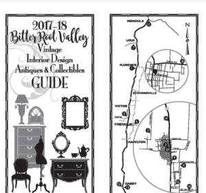 cover of antique and vintage shopping guide for bitterroot valley