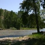bitterroot river near darby, montana