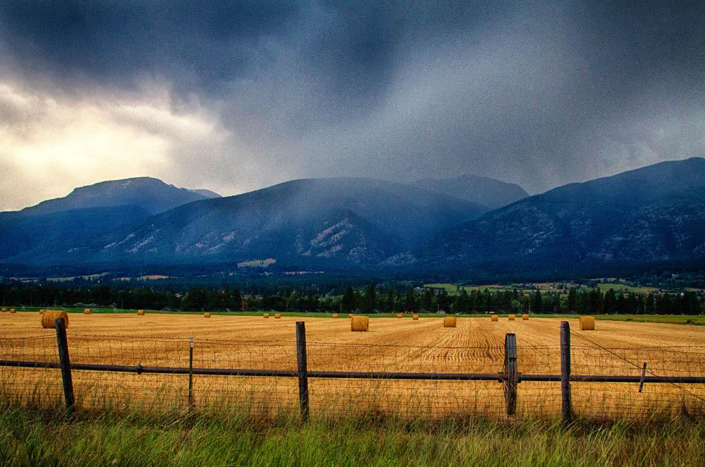 Hay Harvest in the Bitterroot Valley of Montana