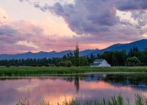 pond at dusk at lee metcalf wildlife montana-toddtaylor