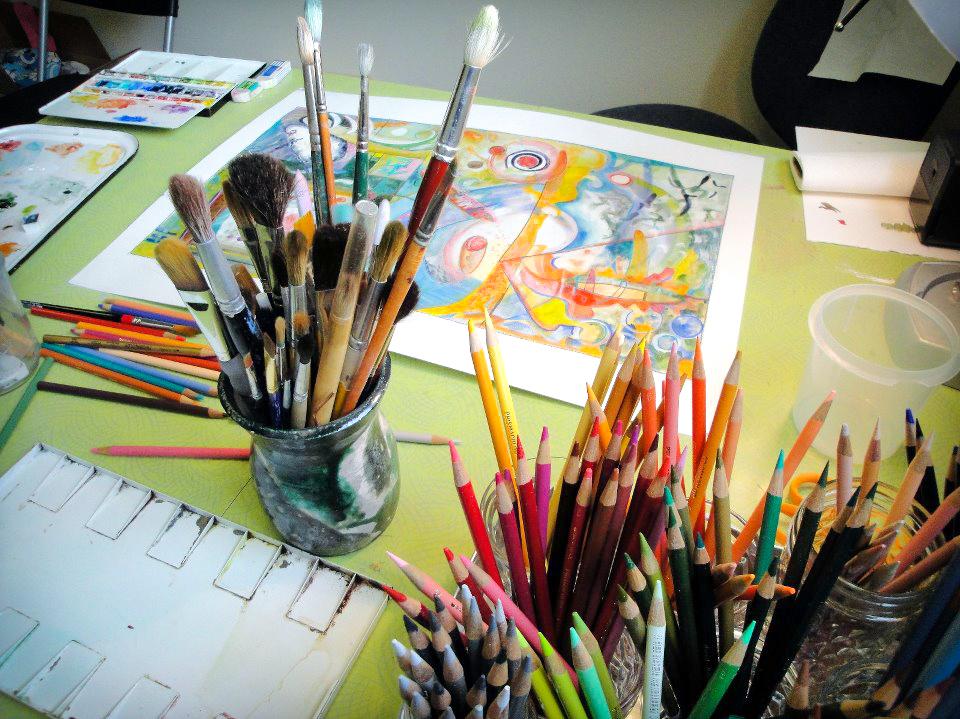 art in studio colored pencils