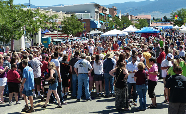 people gather at hamilton's daly days festival