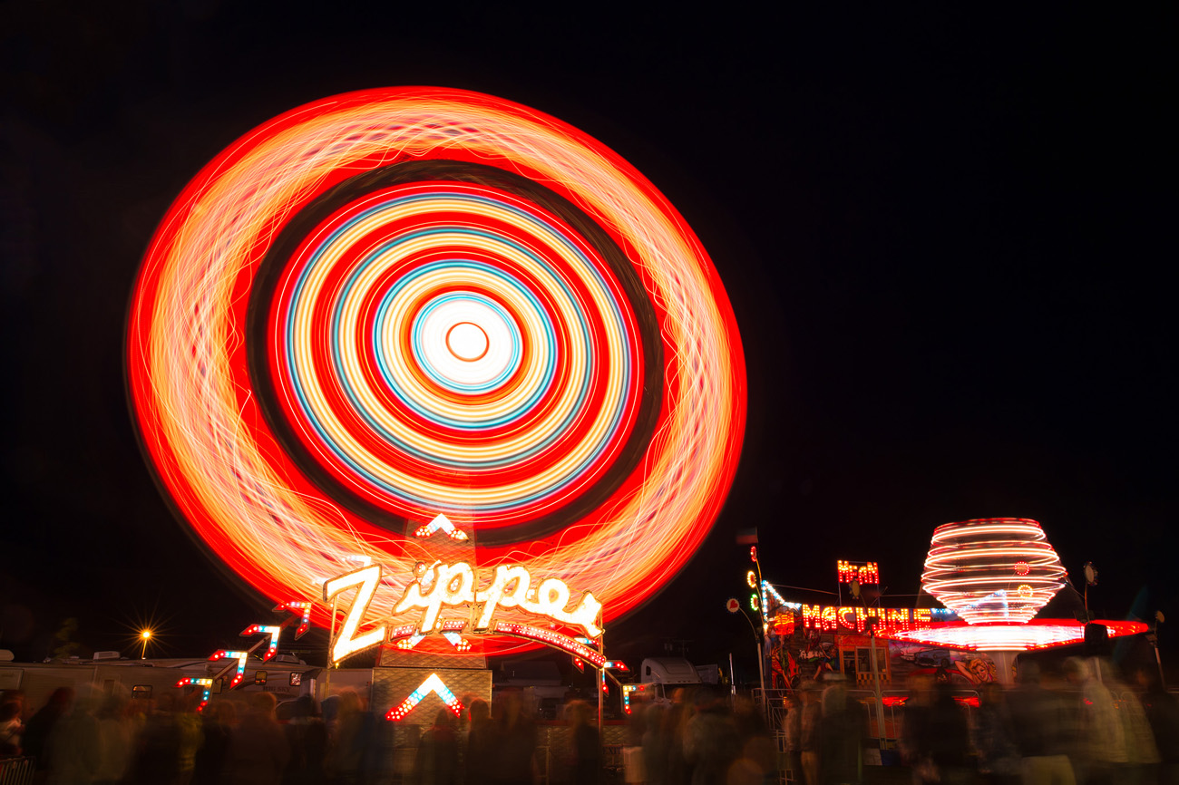 ride spinning at ravalli county fair, montana