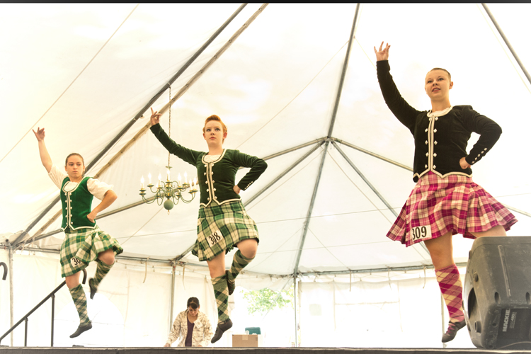 girls dancing at bitterroot celtic games and gathering