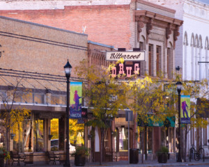 hamilton montana downtown in autumn
