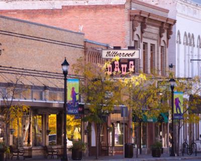 hamilton montana downtown in autumn