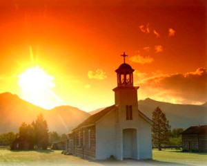 st mary mission at sunset stevensville montana