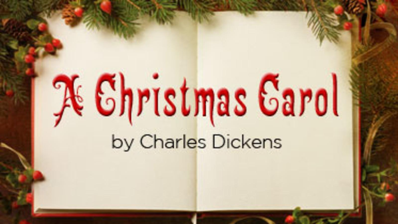 book and wreath a christmas carol by charles dickens